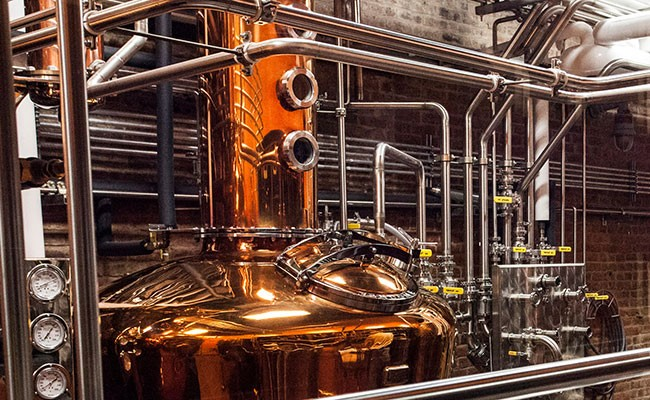 Copper Pot Still at Bourbon Distillery