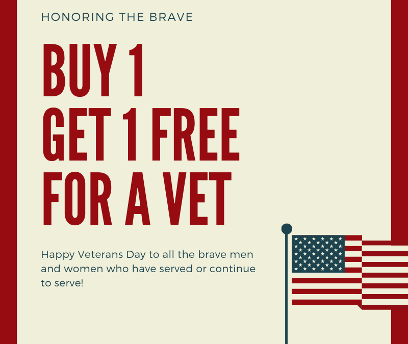 Veterans Day 2019: Bring A Vet For Free Special Offer For Mint Julep Experiences
